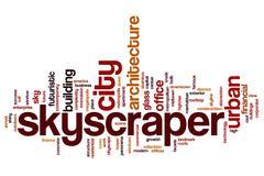 Skyscraper word cloud Stock Illustration