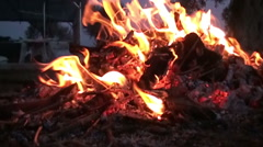 Fire Hearth - Slow Motion (3) Stock Footage