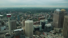Calgary Downtown Timelapse - Above the Calgary Tower Stock Footage