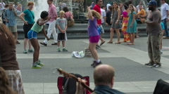 Jump rope and double dutch in Washington Square Park in Manhattan New York City Stock Footage