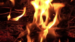 Fire Hearth - Slow Motion (5) Stock Footage