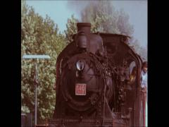 80th Germany Staem Train Drive Stock Footage