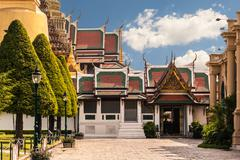 wat phra kaew entrance - stock photo
