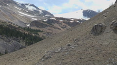 Canada Icefields Crowfoot Glacier and talus slope s Stock Footage
