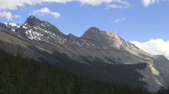 Canada Icefields Parkway Escarpment Mountain Stock Footage