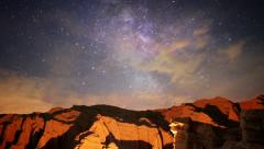 Milky Way Galaxy 33 R Timelapse Mojave Desert Red Rock Canyon Stock Footage