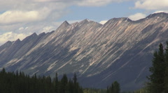 Canada Icefields Parkway mountian slopes Stock Footage