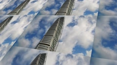 Turning torso, Malmo, Sweden.dramatic clouds,time lapse Stock Footage