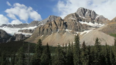 Canadian Rockies mountains with talus slopes Stock Footage