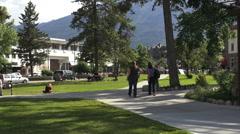 Canada Alberta  Jasper city park Stock Footage