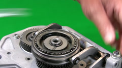 Mechanic dismantling gear box 2. Stock Footage