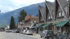 Canada Alberta Jasper Connaught street peaked roofs Stock Footage