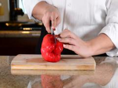 Red Bell Single Slice Stock Footage