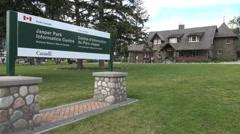 Canada Alberta Jasper information Center Stock Footage