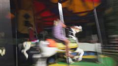 4K UHD Country Faire Merry Go Round Blur Slow Stock Footage