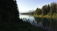 Canada Jasper National Park Malign Lake Stock Footage