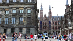 Stock Video Footage of Magna Plaza Shopping Center in Amsterdam