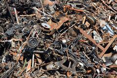 Scrap metal heep Stock Photos