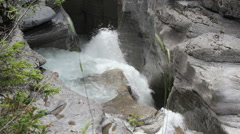 Canada Jasper National Park Malign Canyon rushing water c Stock Footage