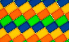 Slopping rectangle color pattern Stock Photos
