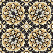 Seamless ornament, straw and bark on fabric Stock Illustration