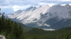 Canada Jasper National Park Pyramid Mountain Stock Footage