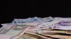 Russian money Stock Footage