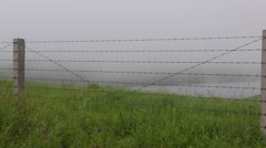 Border fence between China and Russia Stock Footage