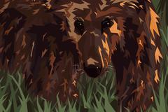 Stock Illustration of grizzly
