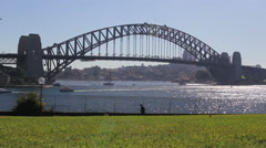 Sydney Harbour Bridge with park HD Stock Video Stock Footage