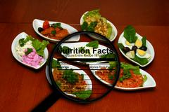 Stock Illustration of food nutrition facts