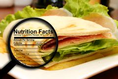 Stock Illustration of sandwich nutrition facts