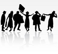 group of people - stock illustration