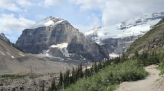 Canadian Rockies Banff Trail above tree line Stock Footage