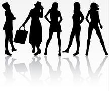 Stock Illustration of women silhouettes