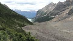Canadian Rockies Banff Trail Plain of Six Glaciers Stock Footage