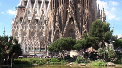 Types of Sagrada Familia church. Nativity (East side) facade. Barcelona, Spain. Stock Footage