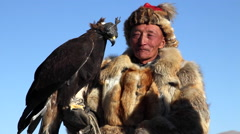 GOLDEN EAGLE HUNTER FESTIVAL HORSEMAN Stock Footage