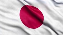 4K Flag of Japan seamless loop Ultra-HD Stock Footage