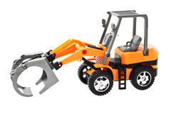 grapple loader tractor - stock photo