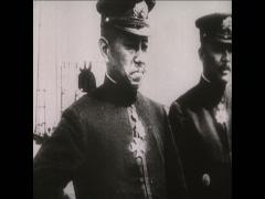 1918 Japanese Landing Russia Harbour Stock Footage