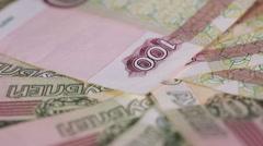 Russian money macro Stock Footage