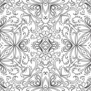 Abstract pattern, contours Stock Illustration