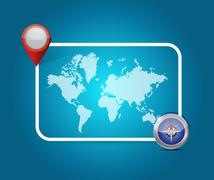 world map location destination illustration design - stock illustration