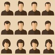 User avatar set Stock Illustration