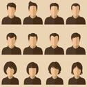Stock Illustration of user avatar set