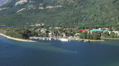 Canada Alberta Waterton Lakes NP  town view  Stock Footage