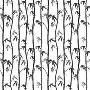 seamless background with bamboo stems - stock illustration