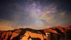 4K Milky Way Galaxy 33 R Timelapse Mojave Desert Red Rock Canyon Stock Footage