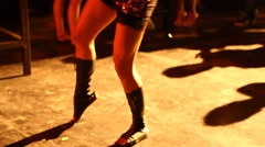 Sexy Female Legs Stock Footage